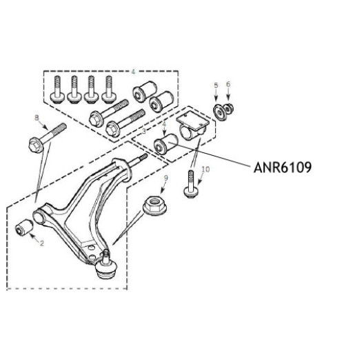 Bucsa bascula suspensie Land Rover Freelander ANR6109