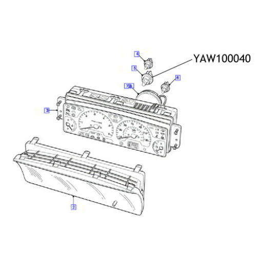 Bec instrumente bord Land Rover Discovery YAW100040