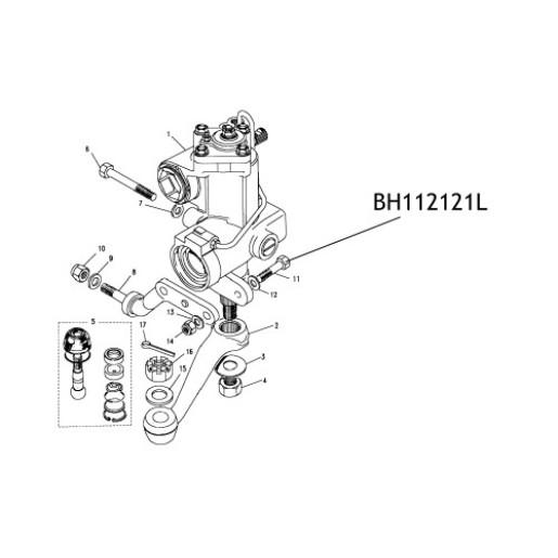 Surub suport caseta directie BH112121L Land Rover Defender Discovery Range Rover