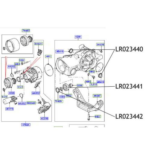Simering diferential Land Rover Freelander LR023442