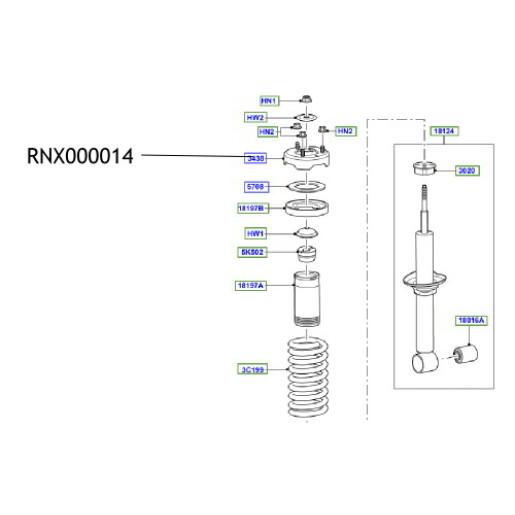 Flansa amortizor RNX000014 Land Rover Discovery