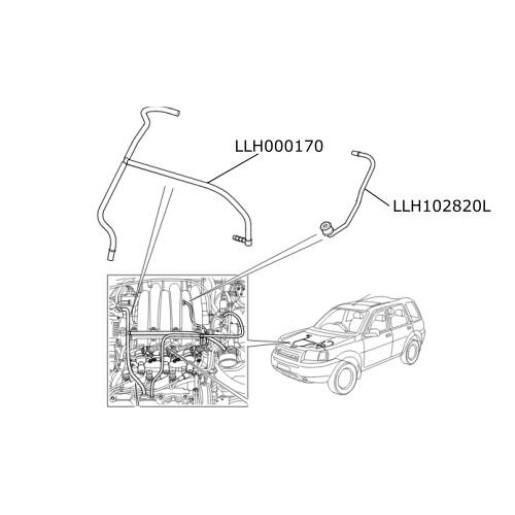 Furtun epurator ax came LR Freelander 1 V6 benzina LLH102820L