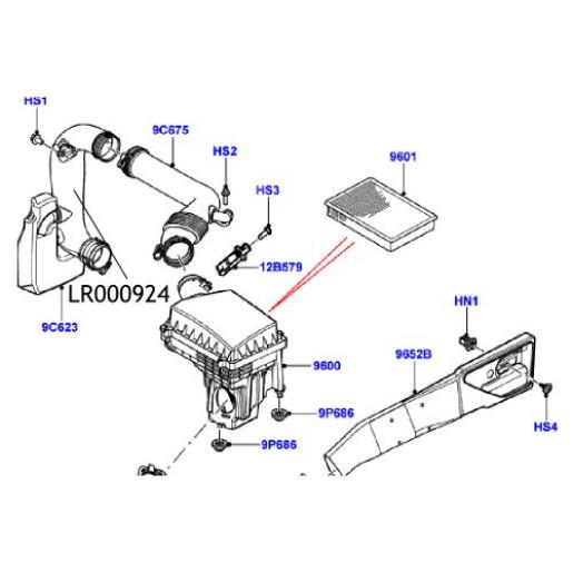 Furtun admisie filtru aer Freelander 2 LR000924