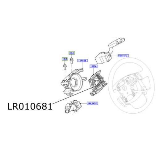 Inel volan Land Rover Freelander 2 LR010681