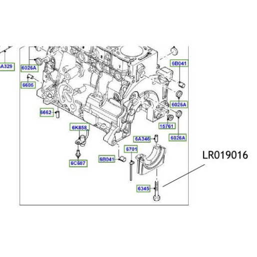 Surub suport cuzinet Land Rover Freelander Range Rover LR019016