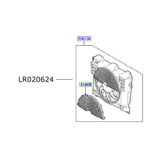 Electroventilator Range Rover L322 LR020624