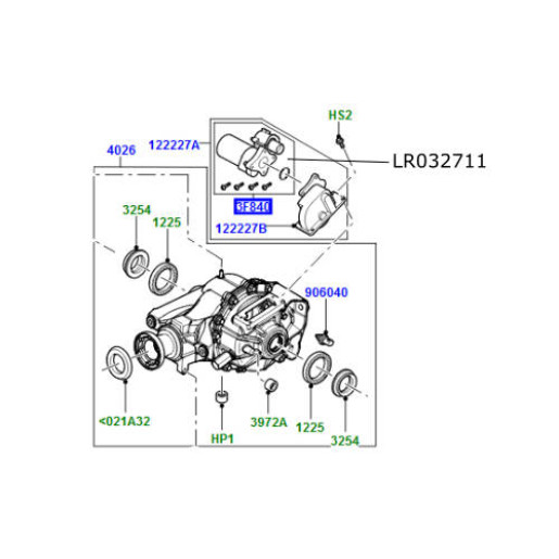 Motor diferential spate Discovery 3 si 4 Range Rover L322 L405 si Sport LR032711