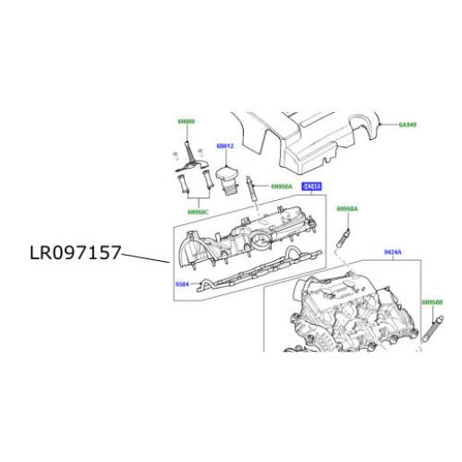 Galerie admisie dreapta 3000cc diesel Discovery 4 Range Rover L405 si Sport LR097157