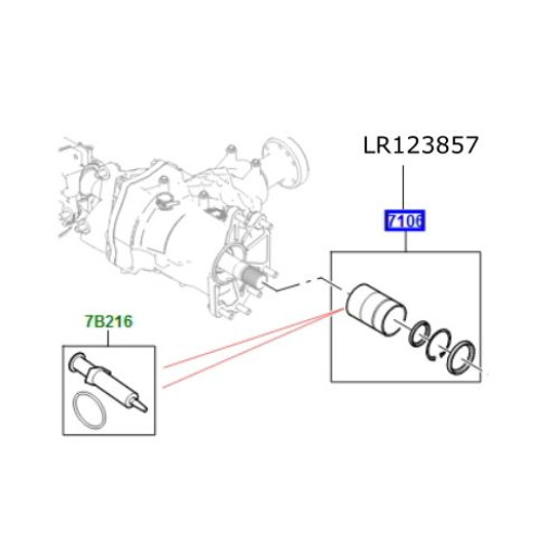 Bucsa kit reductor cutie transfer Discovery Sport Range Rover Evoque LR123857