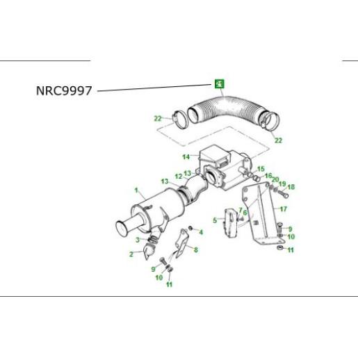Furtun filtru aer debitmetru Range Rover Classic 3.5 V8 NRC9997