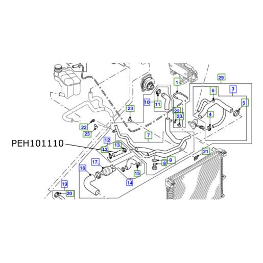 Furtun termostat LR Discovery 2 TD5 PEH101110