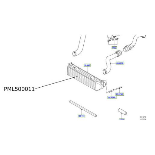 Intercooler LR Discovery 3 si 4  PML500011