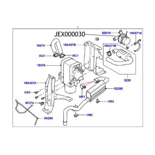 Pompa apa Webasto Land Rover Discovery Range Rover JEX000030