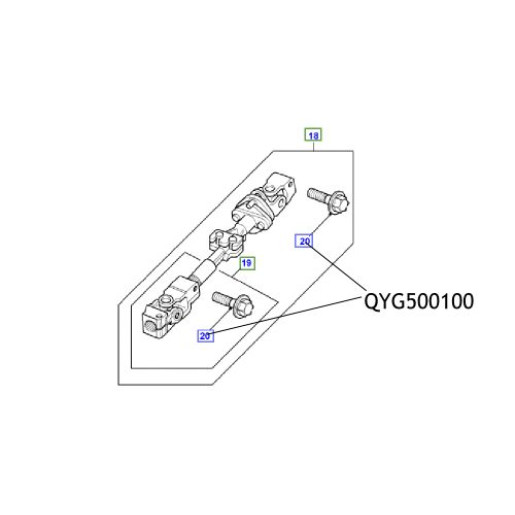 Surub cardan directie QYG500100 Land Rover Defender Discovery