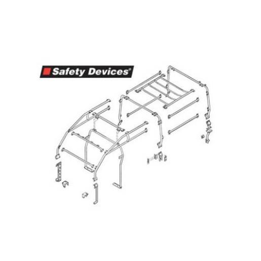 Roll Cage Safety Devices pentru LR Defender model lung 110 RBL1727SSS