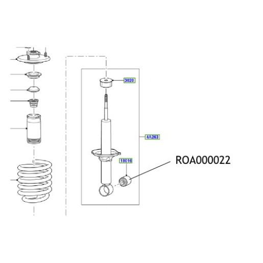 Bucsa amortizor ROA000022 Land Rover Discovery