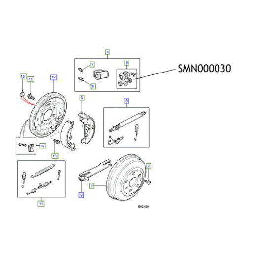 garnituri cilindru frana SMN000030 Land Rover Freelander