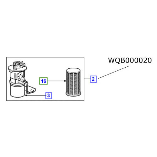 Pompa motorina rezervor LR Freelander TD4 2002-2006 WQB000020