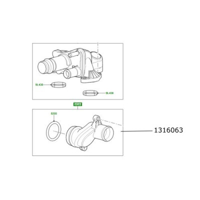 Conector apa motor 2700 V6 LR Discovery 3 si 4 Range Rover Sport 1316063