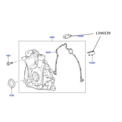 Garnitura pompa ulei spre bloc motor Discovery 3 si 4 Range Rover L405 si Sport 1346539