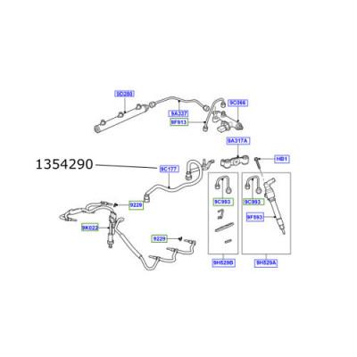 Conducta injectoare retur Discovery 3 Range Rover Sport 2700cc diesel 1354290