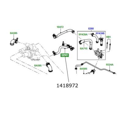 Furtun apa valva EGR Range Rover L322 si Sport 1418972