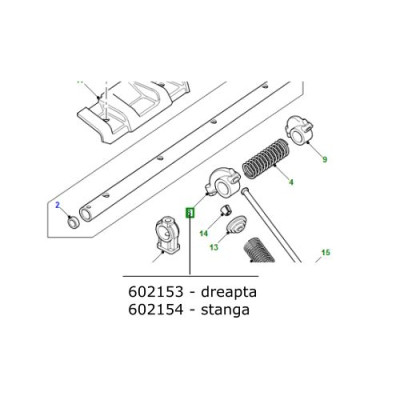 Culbutor motor stanga Land Rover Defender Discovery 1 RR Classic si P38 602154