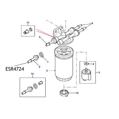 Adaptor conducta filtru ESR4724 Land Rover Defender, Discovery