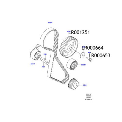 Pinion ax came Freelander 2 LR001251