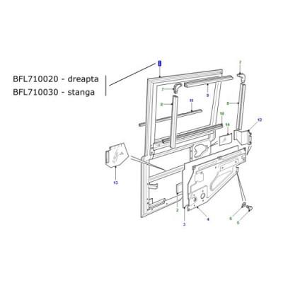 Usa spate laterala dreapta LR Defender 2002-2005 BFL710020
