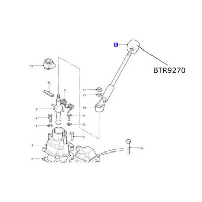 Nuca schimbator viteze LR Defender cutie R380 BTR9270