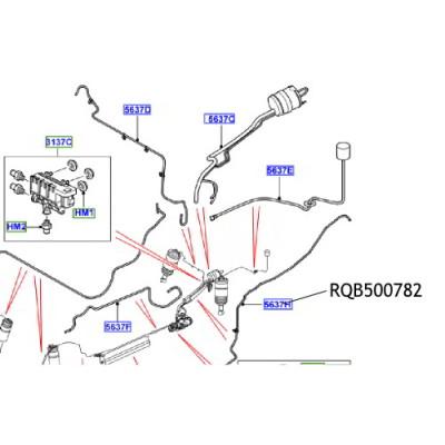Conducta aer suspensie RQB500782 Land Rover Range Rover