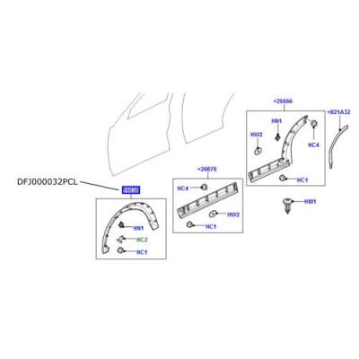 Overfender aripa fata stanga LR Discovery 3 si 4 DFJ000032PCL