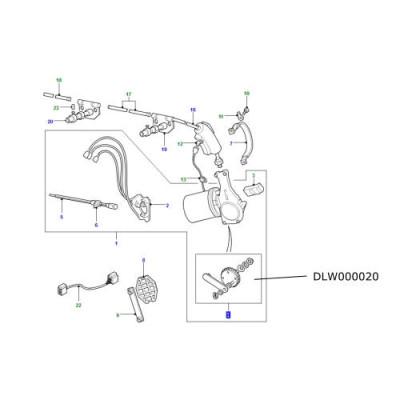 Pinion mecanism stergator parbriz Land Rover Defender de la 2002 DLW000020