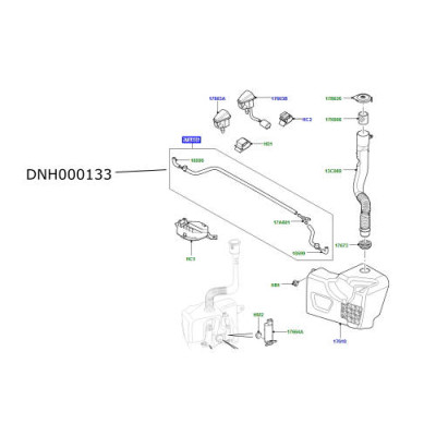Furtun stropitor parbriz LR Discovery 3 si 4 Range Rover Sport DNH000133