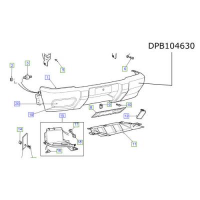 Bara masca fata Land Rover Discovery 2 pana la 2002 DPB104630