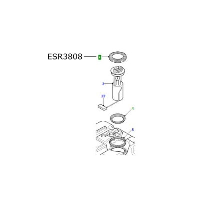Inel etansare pompa rezervor Defender Discovery 1 si 2 Range Rover L322 ESR3808