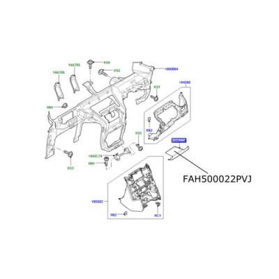 Ornament cauciuc bord central LR Discovery 3 FAH500022PVJ
