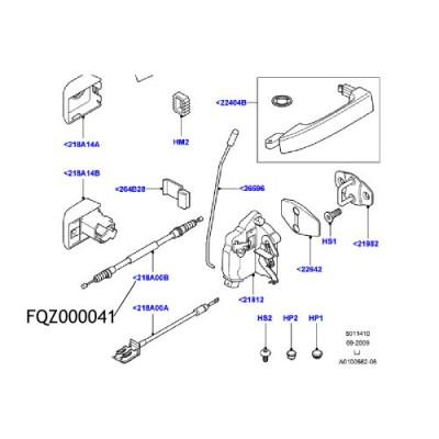 Cablu maner usa Range Rover L322 FQZ000041