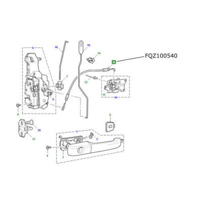Cablu usa fata Land Rover Discovery 2 FQZ100540