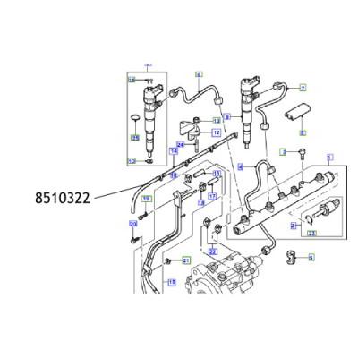 Furtun injector 8510322 Land Rover Freelander
