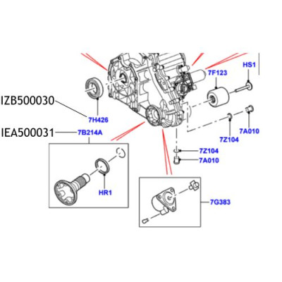 Flansa cutie transfer Range Rover L322 L405 IEA500031 LR086059