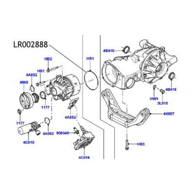 Oring haldex Land Rover Freelander 2 LR002888