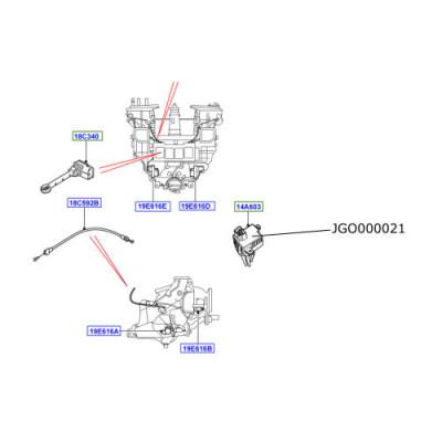 Rezistenta ventilator incalzire Range Rover L322 JGO000021
