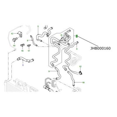 Ansamblu furtun racire motor LR Freelander 1 TD4 JHB000160