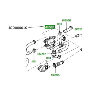 Supapa control apa incalzire Range Rover L322 JQD000010