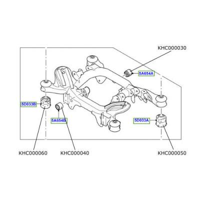 Bucsa mare inspre spate ansamblu punte spate Range Rover L322 KHC000060