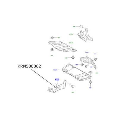 Scut fata lateral stanga LR Discovery 3 si 4 RR Sport KRN500062