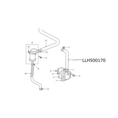 Furtun epurator motor 300TDI LR Defender Range Rover Classic LLH500170