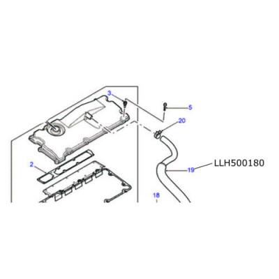 Furtun epurator TD5 Defender Discovery LLH500180